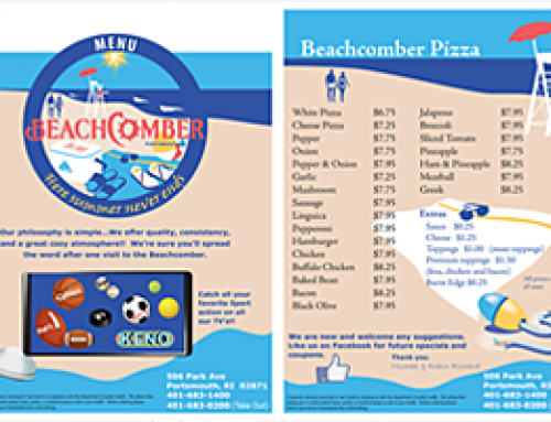 Restaurant menu / front & back